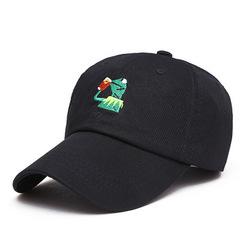 Кепка с лягушкой черная (Бейсболка с лягушкой черная)