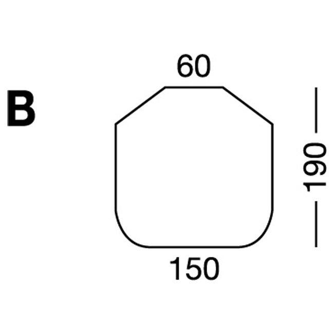 Elastic sheet / model B / white