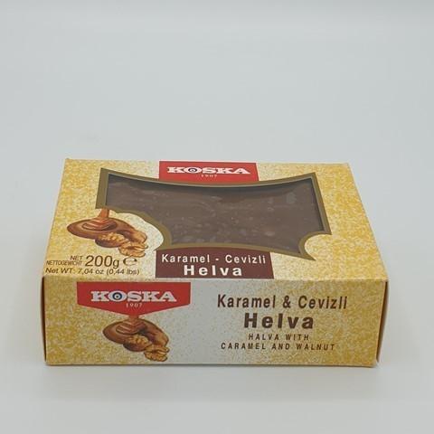 Летняя халва с грецким орехом и карамелью KOSKA, 200 гр