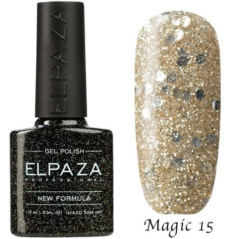 Гель лак Elpaza Magic, ГАЗИРОВКА 15