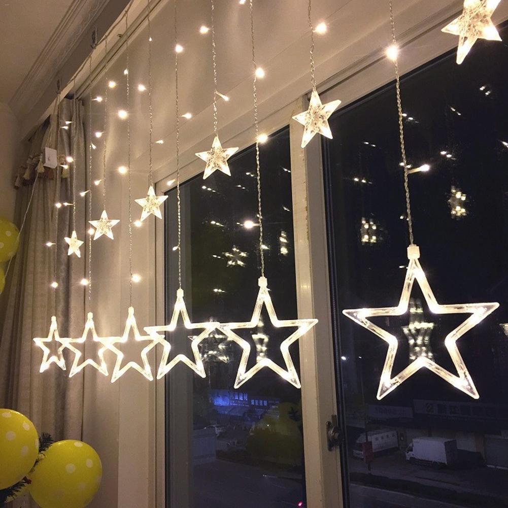 Новогодние товары Светодиодная гирлянда-штора Five-Pointed Star star-212.jpg