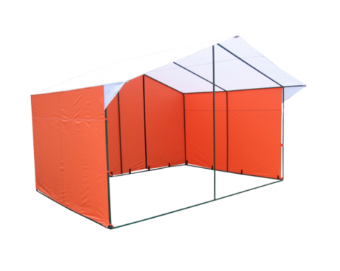 Торговая палатка Митек Домик 4.0х3.0 из квадратной трубы ⊡20х20 мм