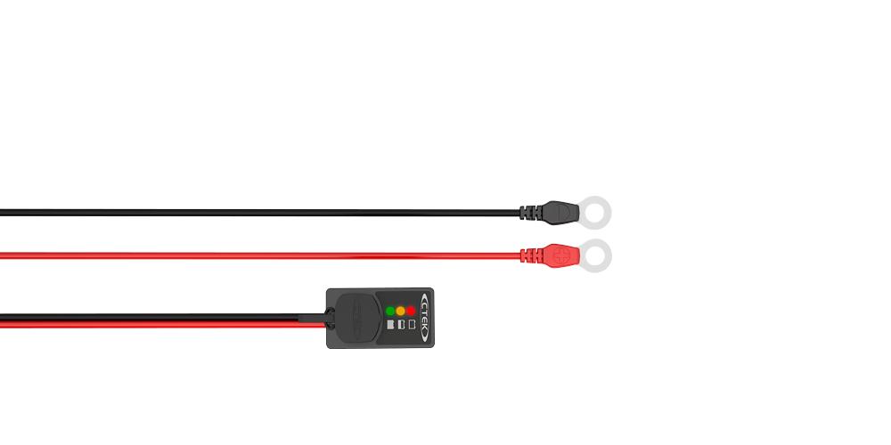 Индикатор состояния АКБ встраиваемый в панель, кабель 1,5м, круглые клеммы М8 56‐380