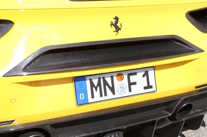 Карбоновая центральная позиция заднего воздушного выхода Novitec Style для Ferrari 488 GTB