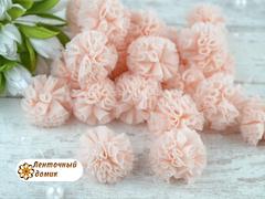 Помпоны из фатина персиковые 20 мм