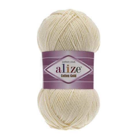 Пряжа Alize Cotton Gold молочный 01