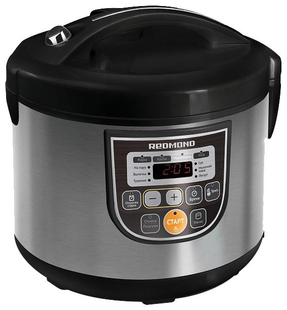 Мультиварка на 3 литра с керамикой мультиповаром режимом йогурта Redmond RMC-M12 фото