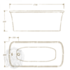 Ванна встраиваемаяOlivia podium ML.OLV-40.104 1740x800cm. схема