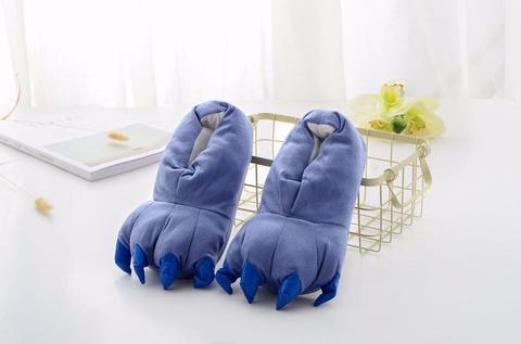 Тапочки когти синие