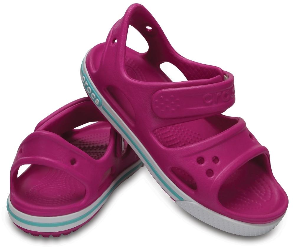 Детские сандалии для девочек Crocs Crocband Vibrant Violet / White