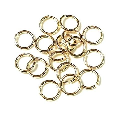 Колечки 6 мм цвет золото 10шт