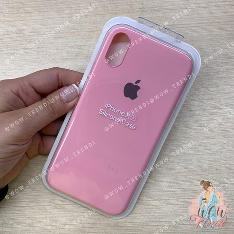 Чехол iPhone X/XS Silicone Slim Case /pink/