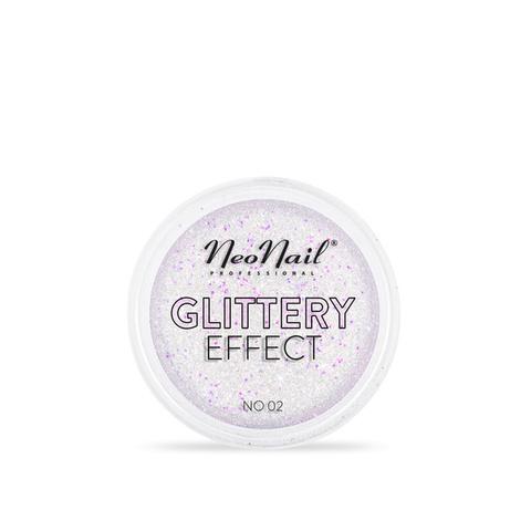 NeoNail Глиттер Glittery Effect №2 розово-зелёный