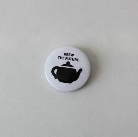 Значок Brew the future (white)