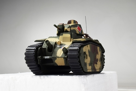 Tank Char B1 Bis 1:43 DeAgostini Tanks. Legends World armored vehicles #15