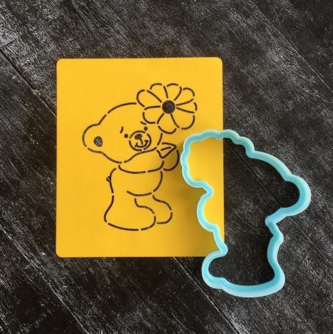 Мишка Тедди №1 с цветочком