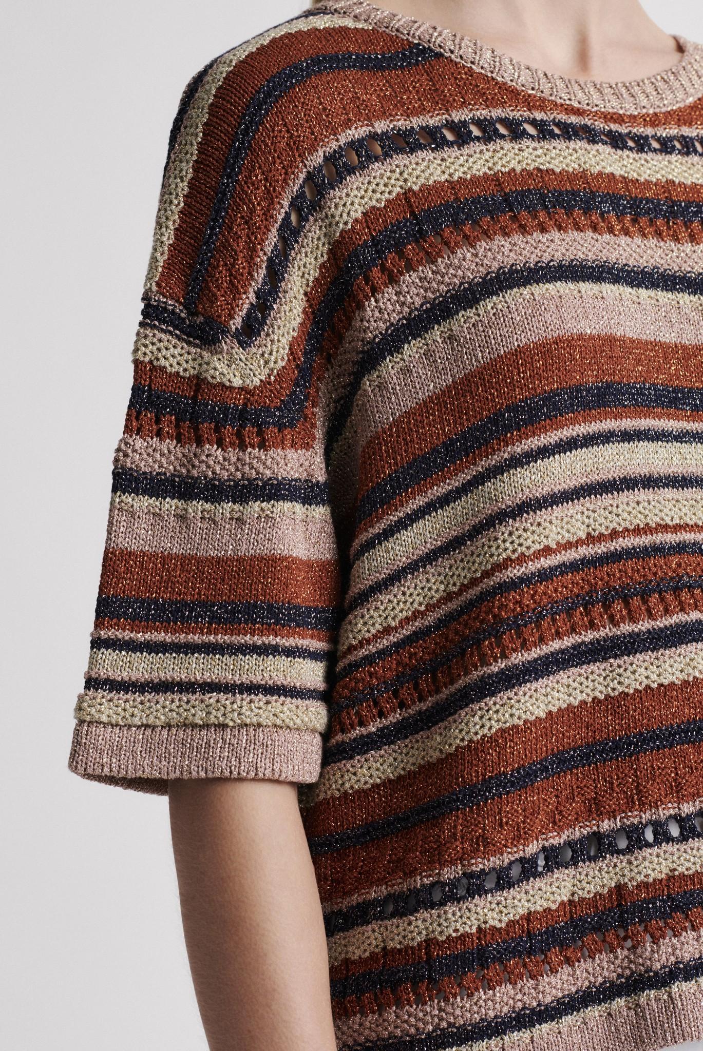 ELEANA - Разноцветный вязаный свитер