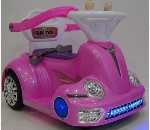 Детский электромобиль-ходунок Rivertoys 1688 розовый