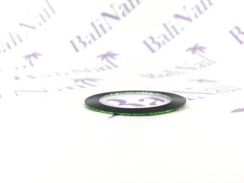 Самоклеящаяся лента для дизайна ногтей (зеленая голограф.)