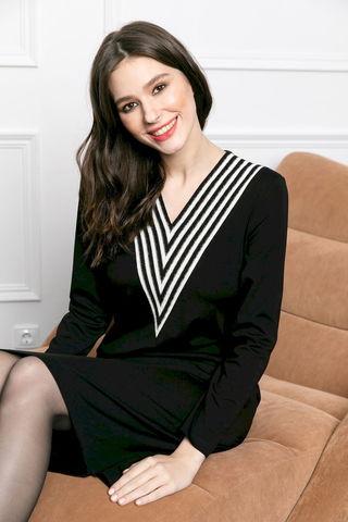 Фото платье с v-образным вырезом и длинными рукавами - Платье З471-823 (1)