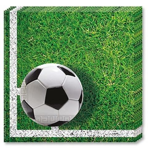 Салфетка Футбол зеленый 33см 20шт