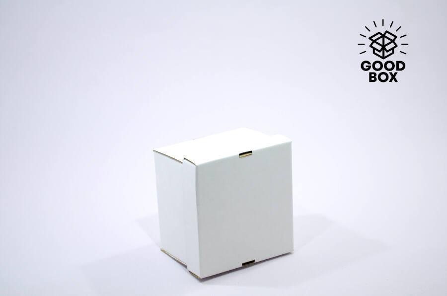 Коробка 150*150*100 белая + белое дно
