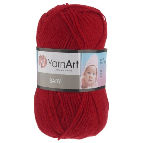 Пряжа YARNART BABY № 576 темно красный