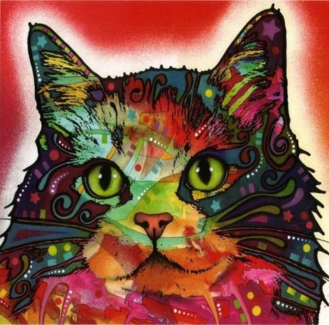 Алмазная Мозаика 30x40 Разноцветный котенок