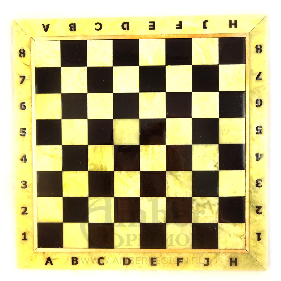 Шахматная доска 35*35 см (белая) 5 шт.