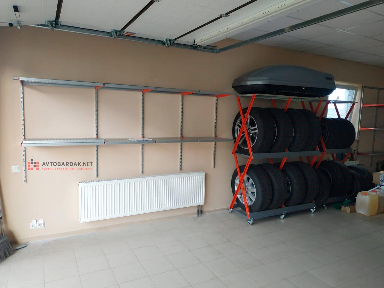 стеллажи для хранения колес