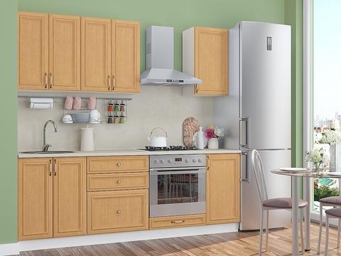 Кухня Шале-1 белый, real oak