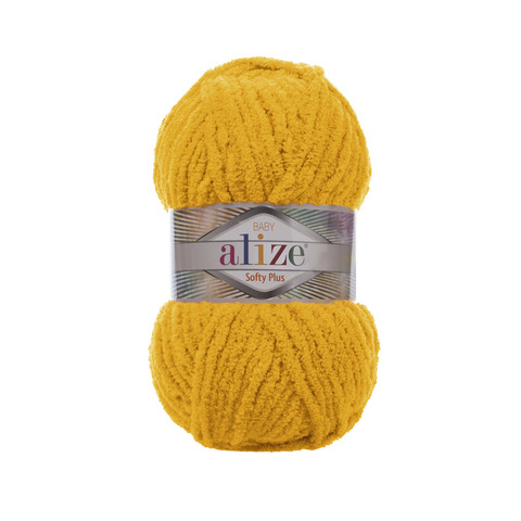 Купить Пряжа Alize Softy Plus Цвет 82 Желтый | Интернет-магазин пряжи «Пряха»