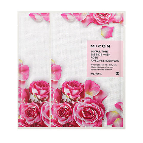 MIZON  Маска с экстрактом розы joyful time essence mask rose 23 g