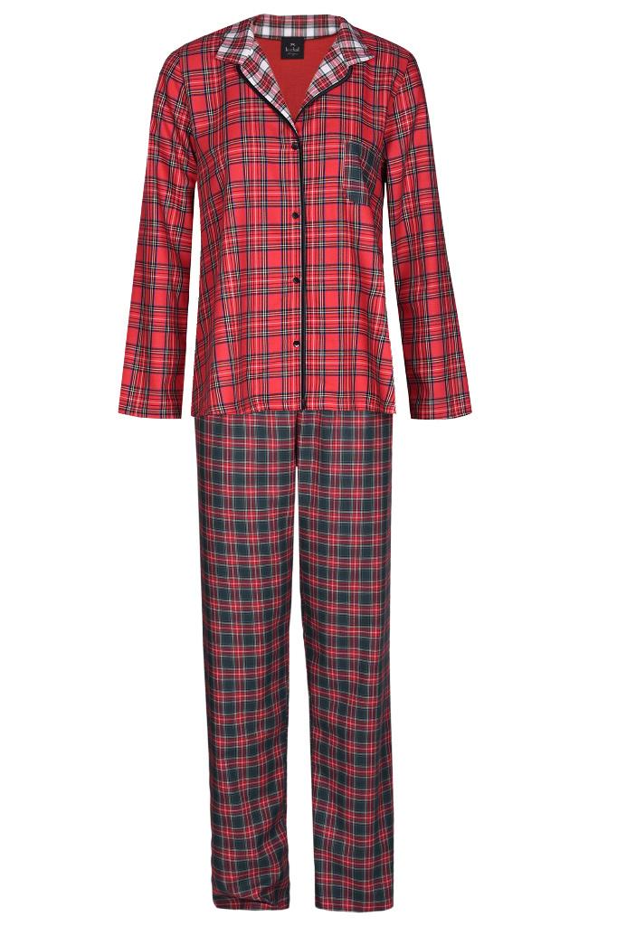 Теплая клетчатая пижама Le Chat