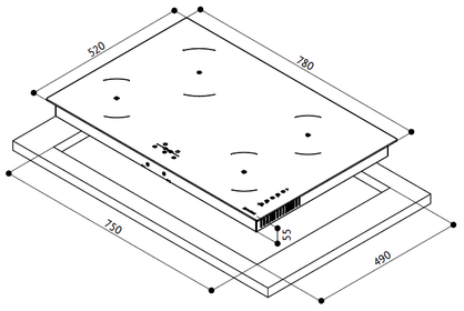 Индукционная варочная панель Faber FCH 83 GR