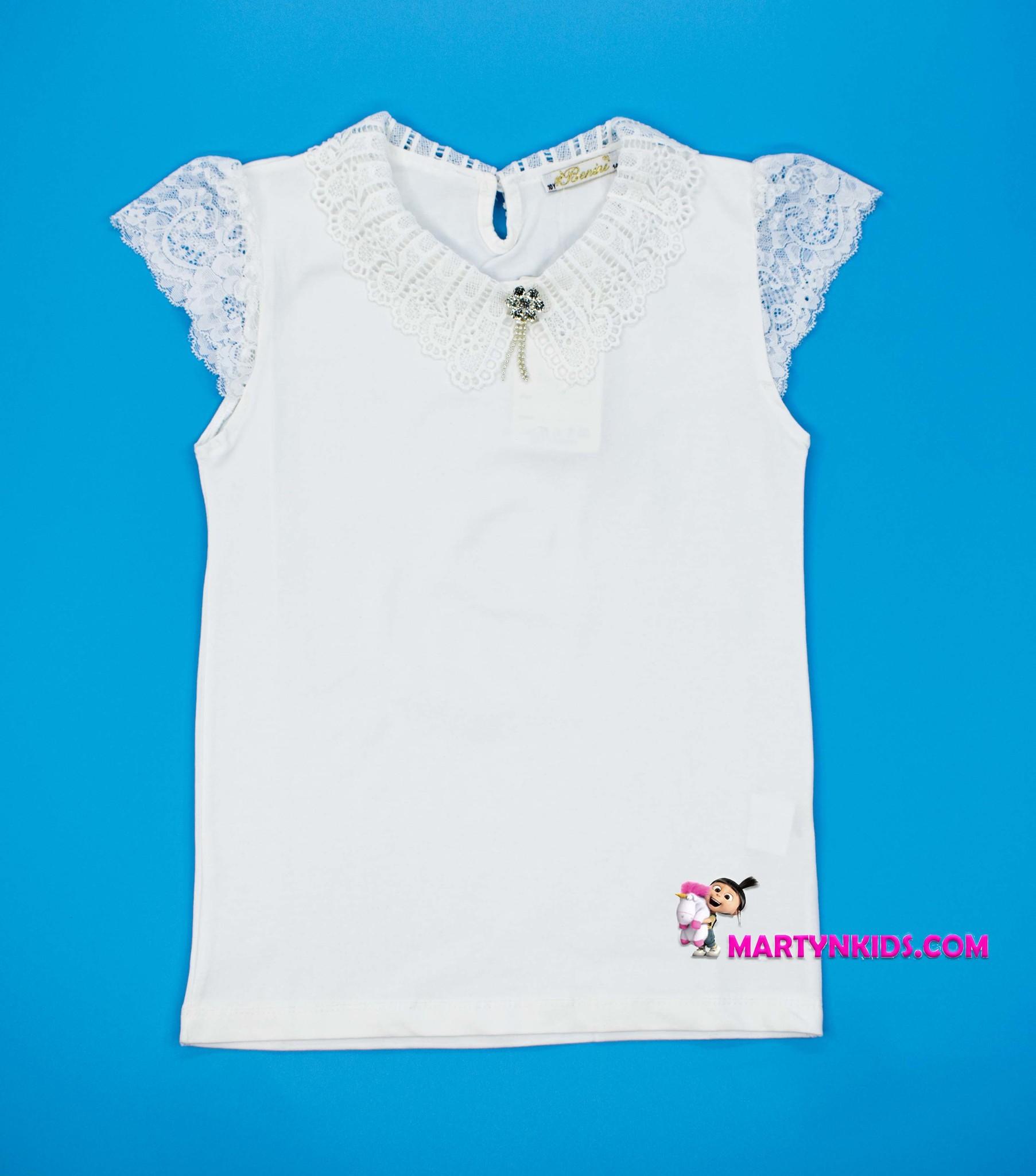 2719 блузка  кружевной воротник