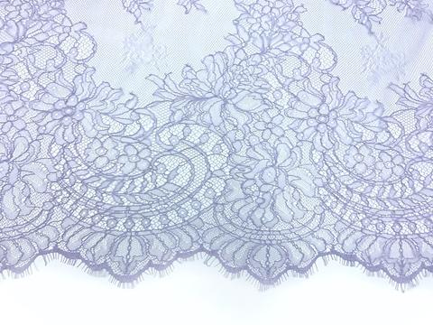 Кружевное полотно шантильи лавандовое (1,5х3м)