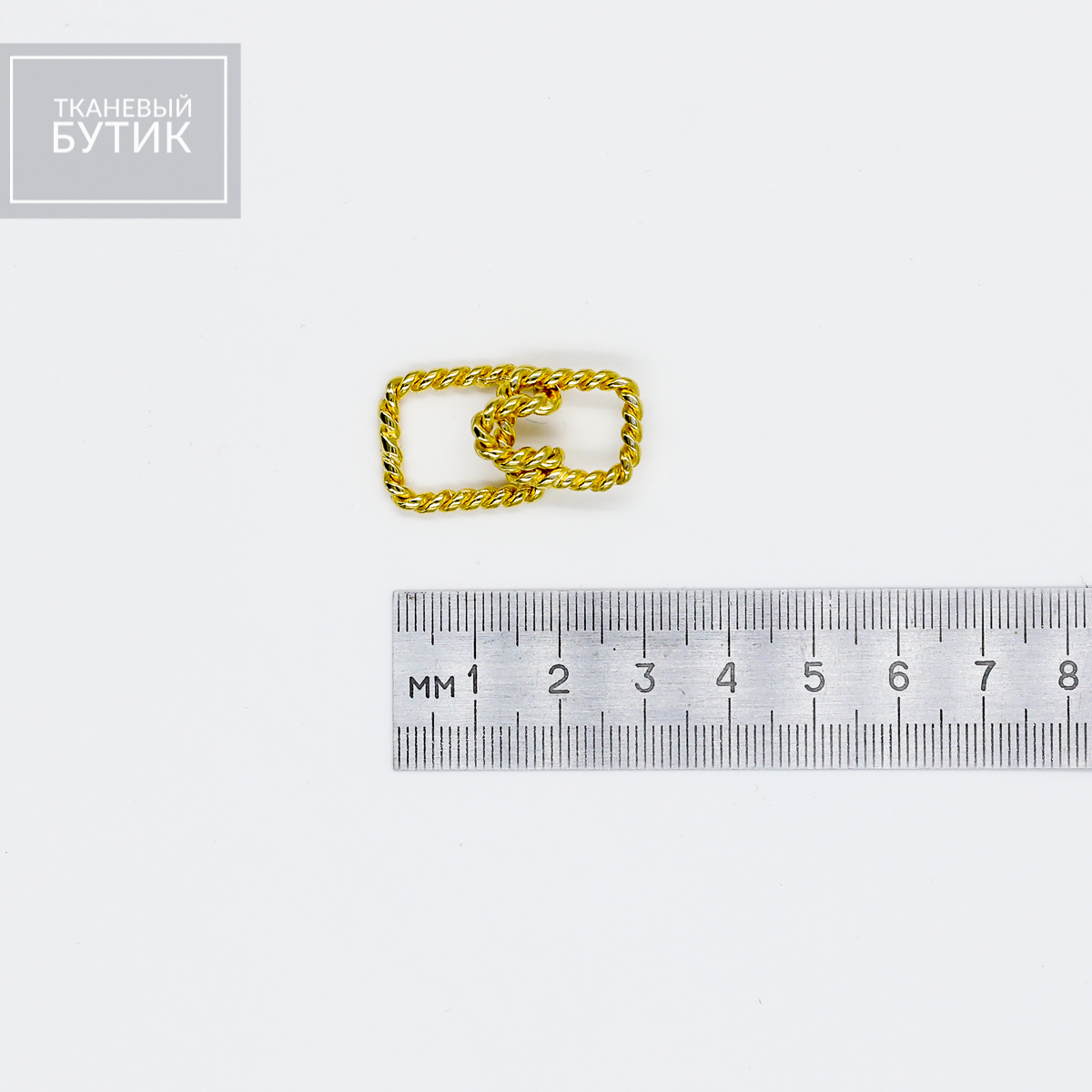 Плетеная прямоугольная застежка из металла