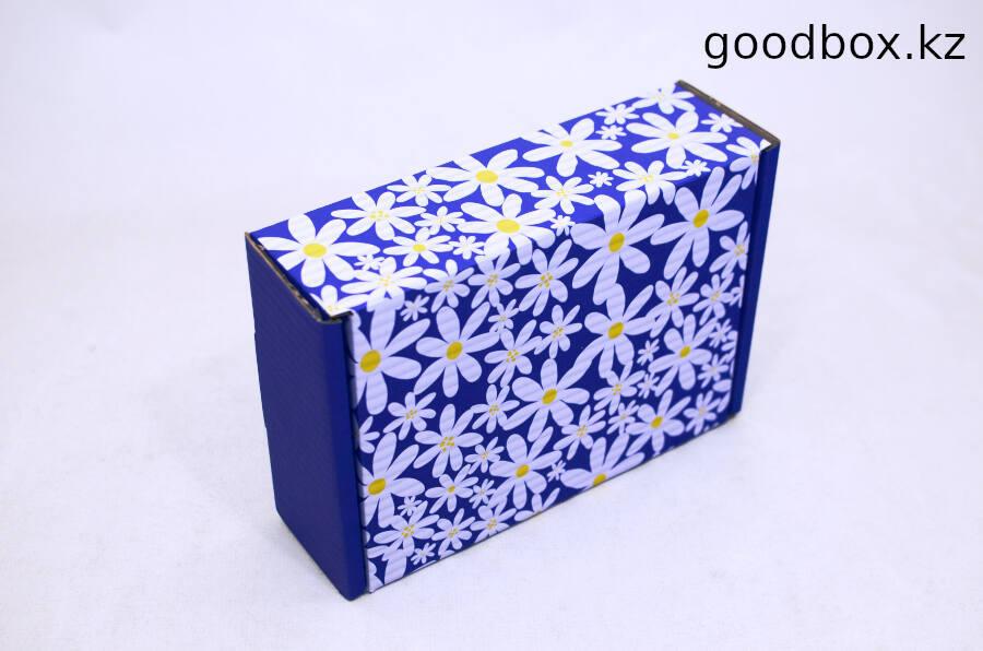 Коробка 230*170*75(мм) синяя ромашка