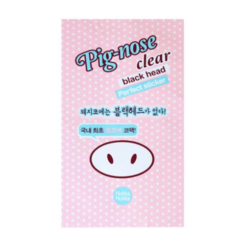 Holika Holika Pignose clear black head Perfect sticker - Полоска для носа, очищающая, 1 г