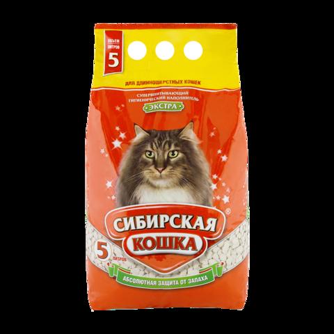 Сибирская кошка Экстра Наполнитель для туалета кошек для длинношерстных кошек впитывающий
