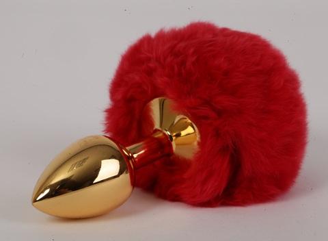 Пробка металлическая c красным хвостом Задорный Кролик размер S 47195-1-MM