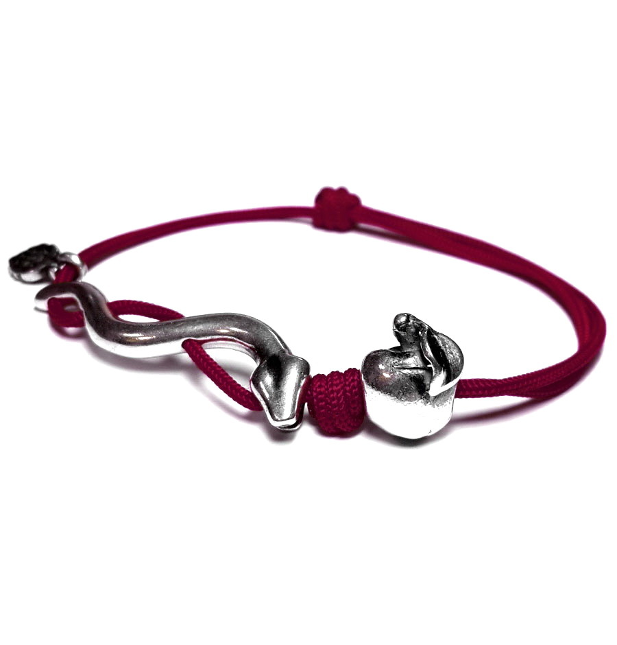 Snake bracelet, sterling silver