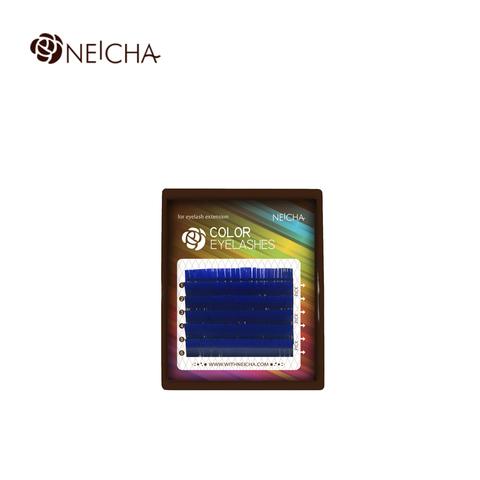 Ресницы NEICHA нейша цветные 6 линий MIX синий