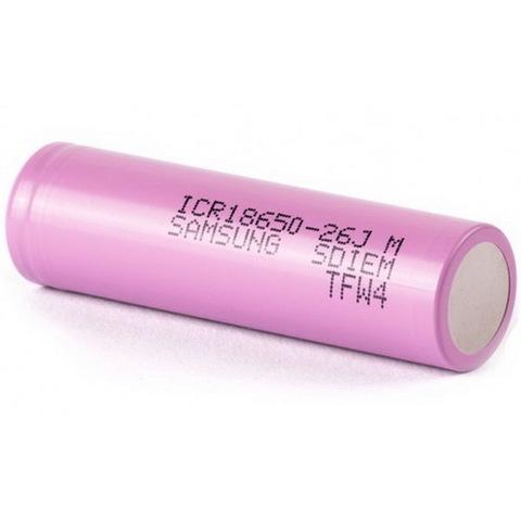 Аккумуляторы 18650 Samsung 2600mAh ICR18650-26J (Li-ion)