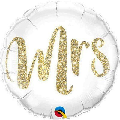 Фольгированный шар круг , Mrs, 46 см