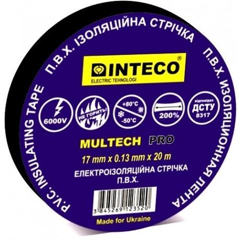 Изоляционная лента черная INTECO Multech Pro 20м.