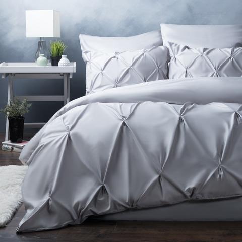 Комплект постельного белья сатин Монселла серый