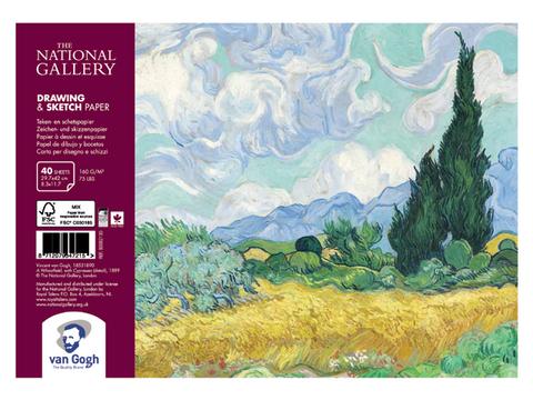Альбом для зарисовок Royal Talens Van Gogh National Gallery, 160 гр/м.кв, А4, 40 листов на спирали