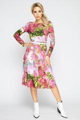 """<p><span>Супер популярная новинка от ELZA! Шикарное платье в романтическом стиле порадует свою обладательницу. Приталенный силуэт, платье отрезное по талии., юбка """"полусонце"""", рукав длинный.(Длины: 46-102,48-103,50-105,52-106.)</span></p>"""